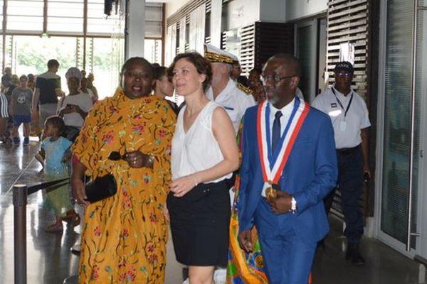 Christelle DUBOS, secrétaire d'État auprès de la ministre des solidarités et de la santé en visite officielle à Mayotte