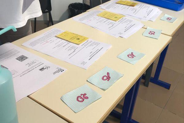 Table des attestations vaccinales au centre de vaccination de l'Encre