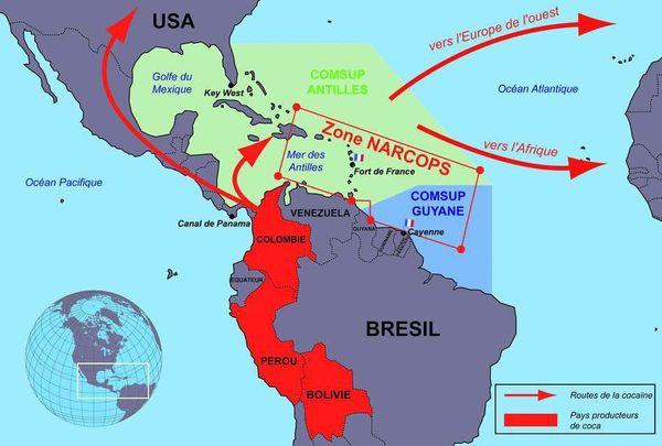 Trafic de cocaïne Antilles