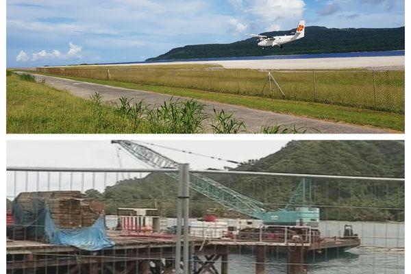 le quai de leava et l'aérodrome de vele