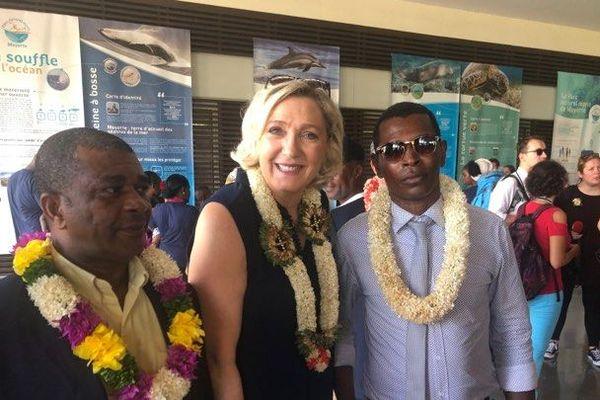 Marine Le Pen, en visite à Mayotte