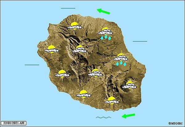 Carte météo 22 janvier 2021