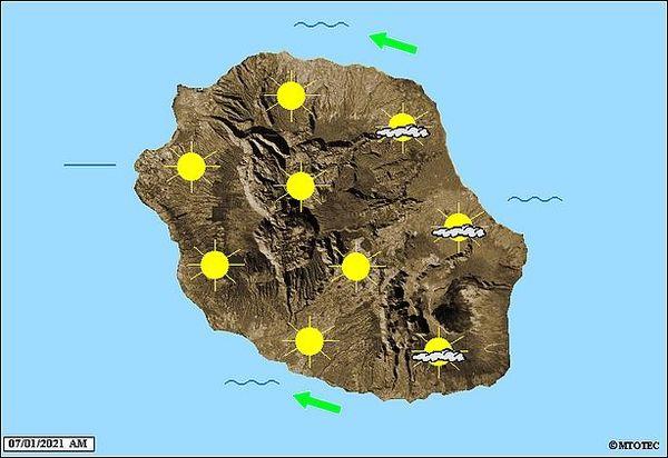 Carte météo 7 janvier 2021