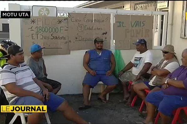 Fin de grève à l'Huilerie de Tahiti
