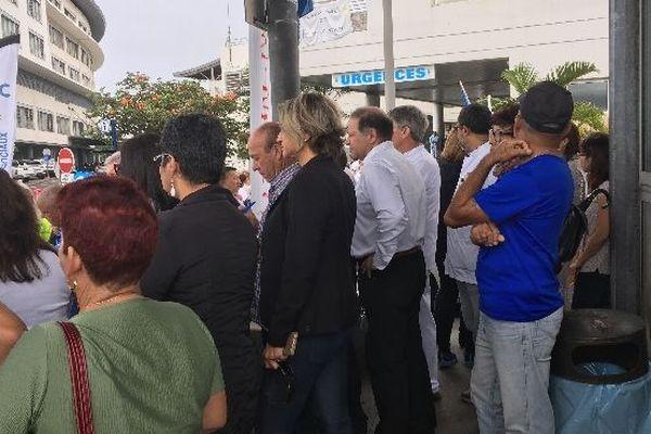 Grève au CHU David Lorion présent