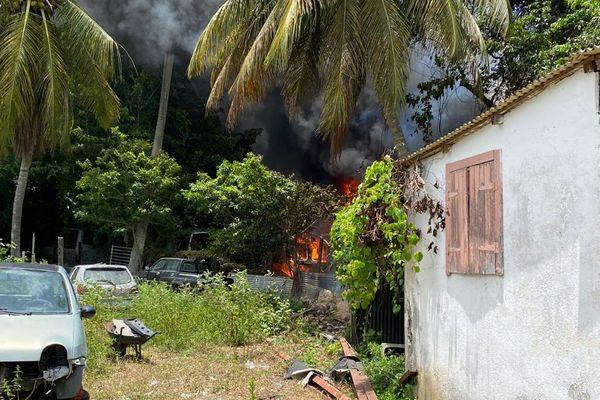 Incendie Belle-Plaine Gosier 29/08/2020