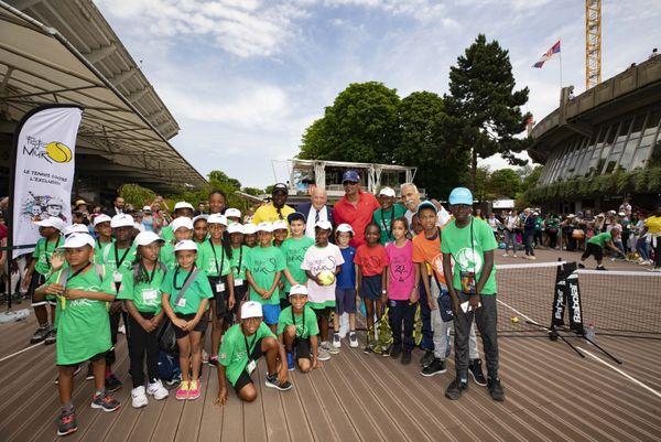 Jeunes réunionnais à Roland Garros