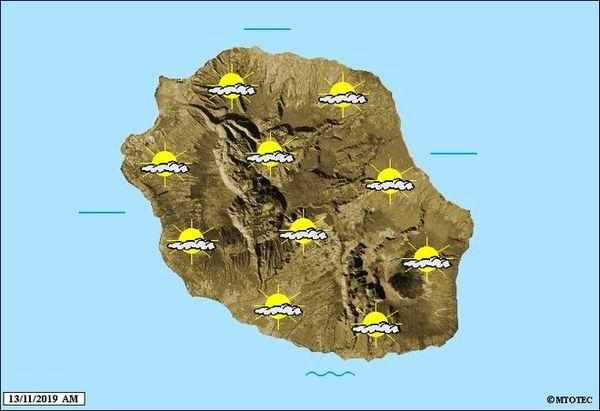 carte météo 13 novembre 2019