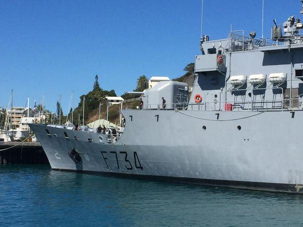 Vendémiaire juste après avoir ramené la tonne de cocaïne saisie au large de Tonga 1er août
