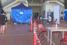 Le centre de dépistage de Païta situé à l'arène du Sud.