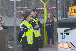 Opération de contrôle devant le lycée Roland Garros