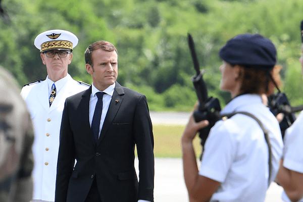 Emmanuel Macron est arrivé en Guyane ce jeudi 26 octobre.