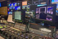 La régie télé de Réunion La 1ère.