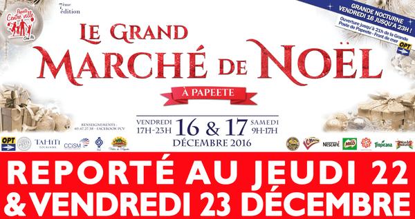 Marché de Noël 2016 reporté