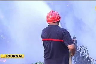Incendie à la décharge municipale de Faa'a à Saint Hilaire