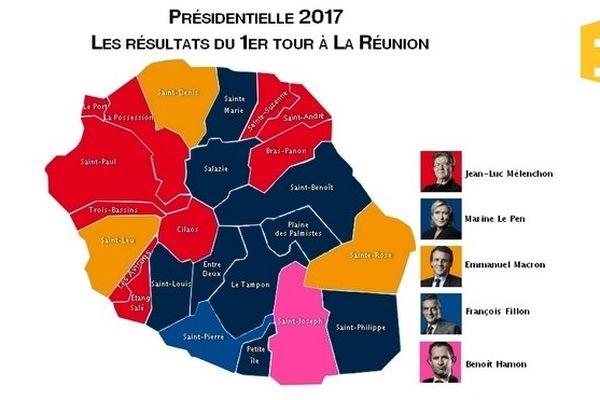 20170426-Carte de La Réunion 24 communes