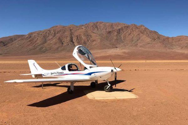 Spirit of Nouméa en Afrique : posé en Namibie (novembre 2017).