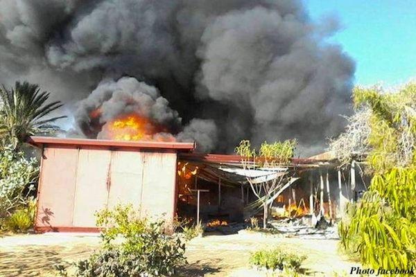 Case incendié à Tuléar
