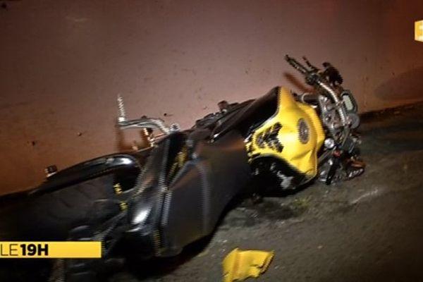 Accident moto