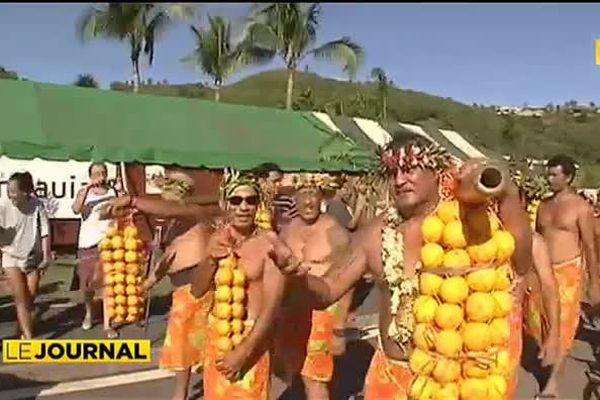 Le défilé des porteurs d'oranges