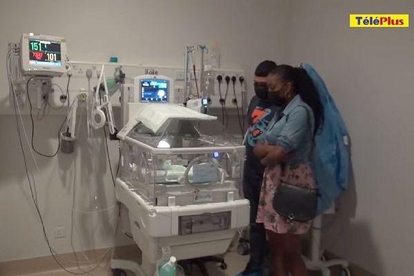 Maël bébé hospitalisé à l'île Maurice