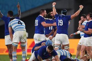 Victoire du XV de France face à l'Argentine en premier match de Coupe du monde