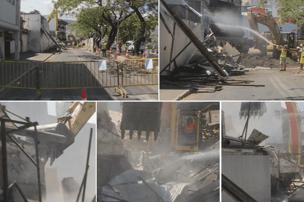démolition hotel papeete