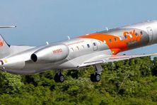 Un des avions de la compagnie Sky aviation.