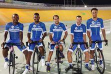 La sélection de Martinique au 70e tour de Guadeloupe De gauche à droite : Jordan Labejof, Mickaël Stanislas, Guillaume Brasseur, Yoan Gobin et Kylian Alger