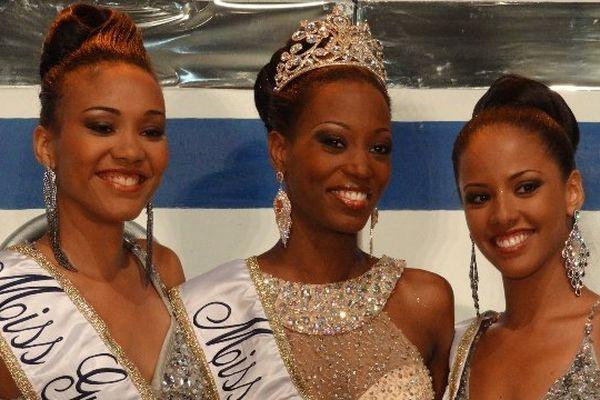 Le podium de miss Guyane 2013