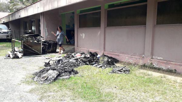 Incendie maternelle Palmiers, 4 décembre 2018