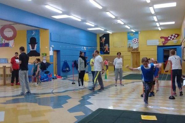 """Séance """" Kid's Athlétics""""  aux ateliers d'été du Centre Communal d'Action Sociale"""