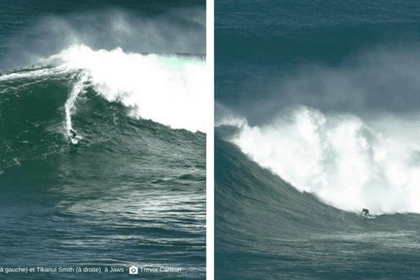 Les surfeurs Tahitiens en forme à Jaws