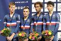 Le Martiniquais Emmanuel Houcou et l'équipe de France, deuxièmes de la poursuite par équipe aux championnats d'Europe juniors de cyclisme