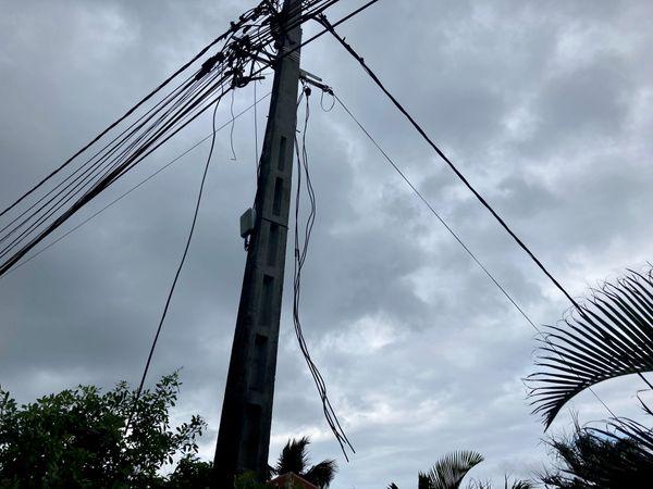 EDF câbles arrachés Petite-Ile