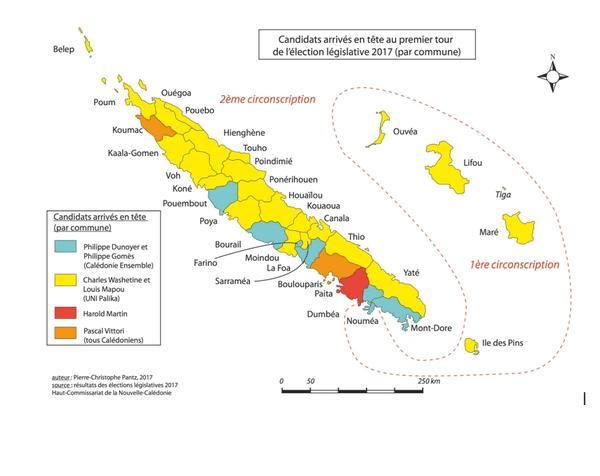Carte candidats en tête dans les communes 1er tour élections législatives