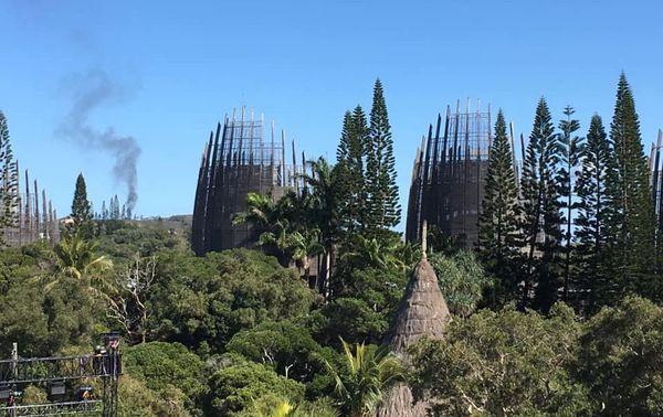 Panache de fumée émanant de Doniambo, 7 septembre 2019