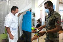 Neyl vaccine à Marseille et Jean-Christophe organise la bonne marche du centre de vaccination de Toulon.