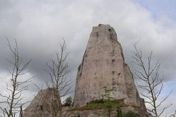 Le grand rocher du parc zoologique