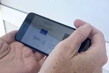 Pass sanitaire calédonien sur smartphone.