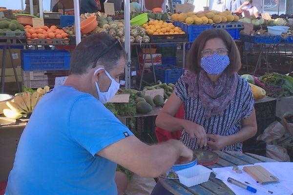 Port du masques obligatoire marchés forains