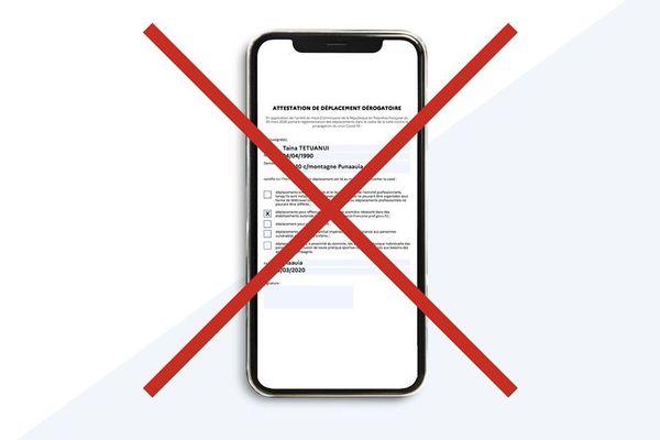 Les attestations numériques sont interdites