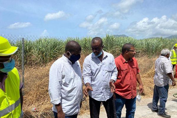 Chalus en visite des chantiers eau