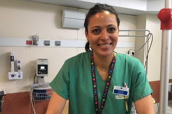 Alexandra Lezeau, infirmière aux urgences de l'hôpital Lariboisière à Paris