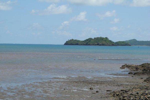 lagon à marée basse