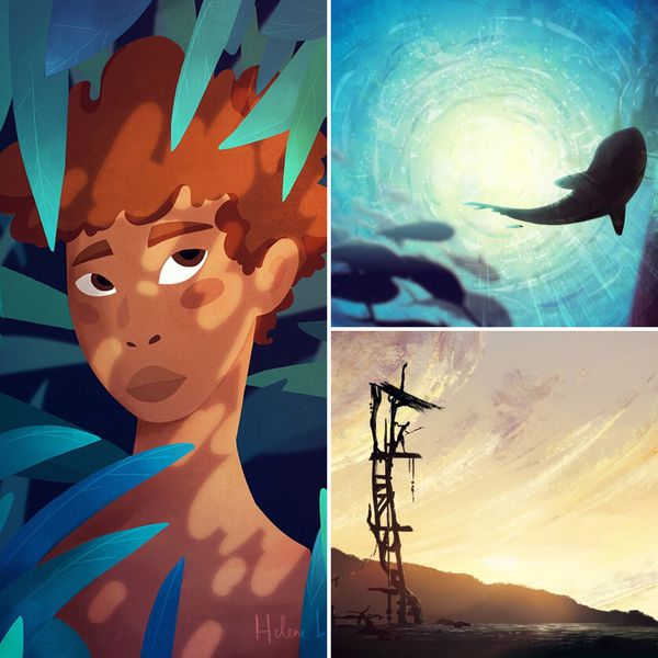 En tant qu'illustratrice, la Calédonienne aime dessiner l'océan et les paysages calédoniens