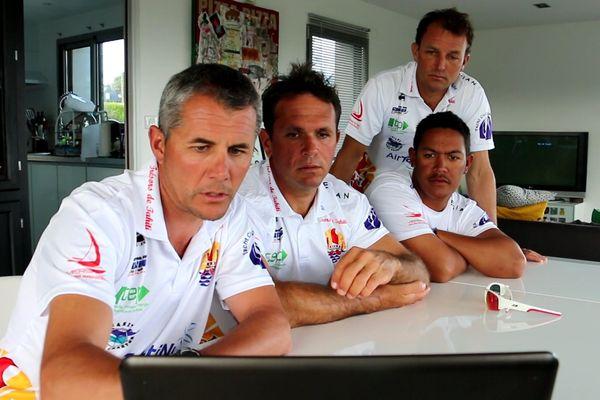 Tour de France à la voile - Briefing avant la prochaine course à Roscoff - 12 07 2016