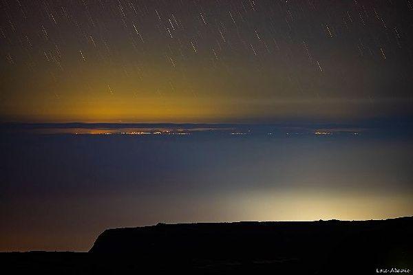 L'île Maurice photographiée depuis la Plaine-des-Sables à La Réunion