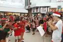 Téléthon : flash mob des élèves du CAPF