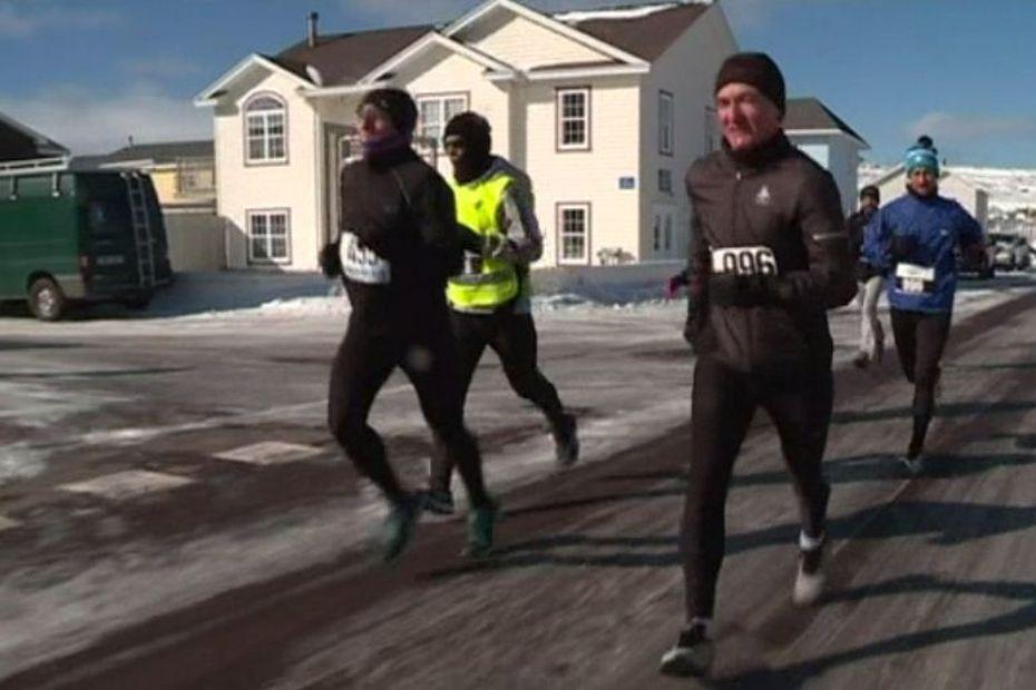 L'édition 2020 des foulées blanches marquée par le froid - Saint-Pierre et Miquelon la 1ère